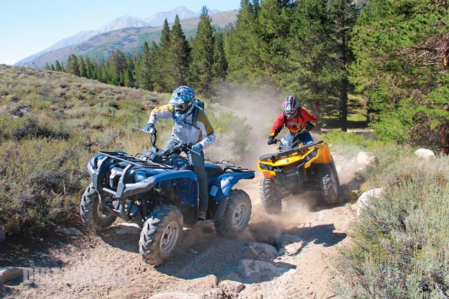 Can am outlander 650 vs yamaha grizzly 700 dirt wheels for Yamaha grizzly 1000cc