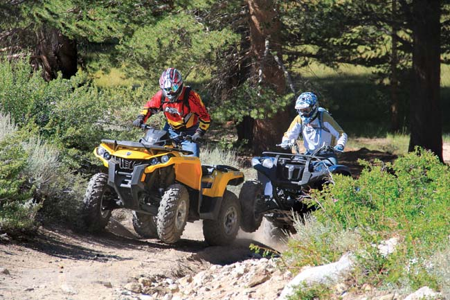 CAN-AM OUTLANDER 650 VS  YAMAHA GRIZZLY 700 | Dirt Wheels Magazine