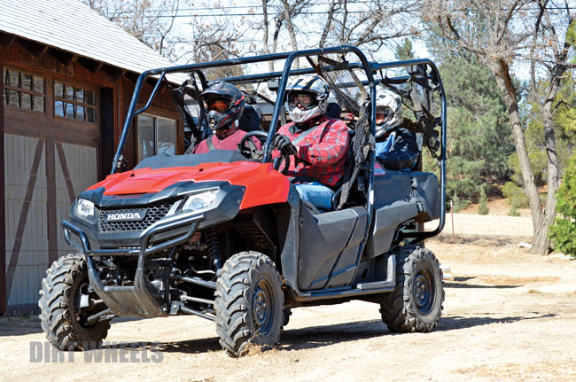 What Makes The Pioneer Stand Apart From Other UTVs Is That Four Seat Version Incorporates Stowaway Jump Seats Fold Completely Out Of Way In