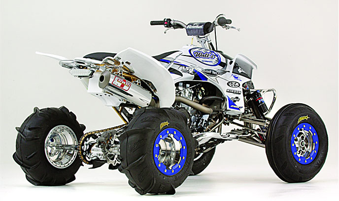 Sport test lonestar quadtech yamaha yfz450 dirt wheels for Yamaha atv yfz450