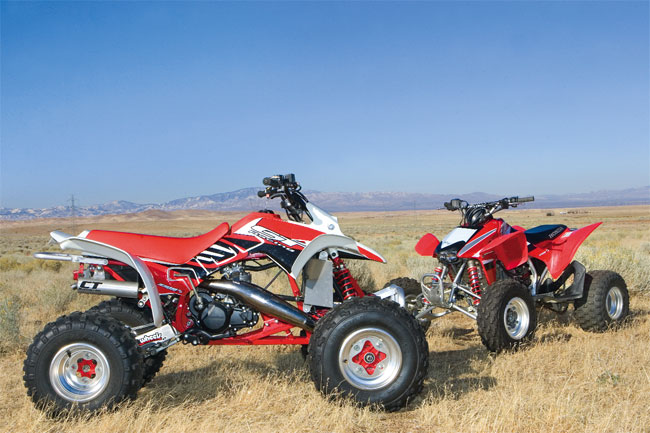 Shootout: 1989 TRX250R vs  2009 TRX450R | Dirt Wheels Magazine