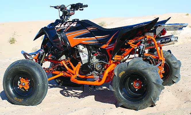 modified sport quads alba action sports polaris 525 outlaw sand quad dirt wheels magazine. Black Bedroom Furniture Sets. Home Design Ideas