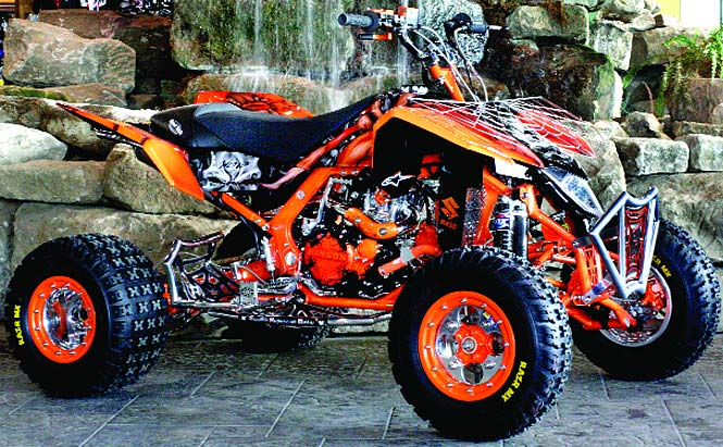 modified madness spyder quad super scary tpr suzuki ltr 450 dirt wheels magazine. Black Bedroom Furniture Sets. Home Design Ideas
