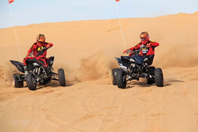 YAMAHA YFZ450R SE VS. RAPTOR 700R SE | Dirt Wheels Magazine