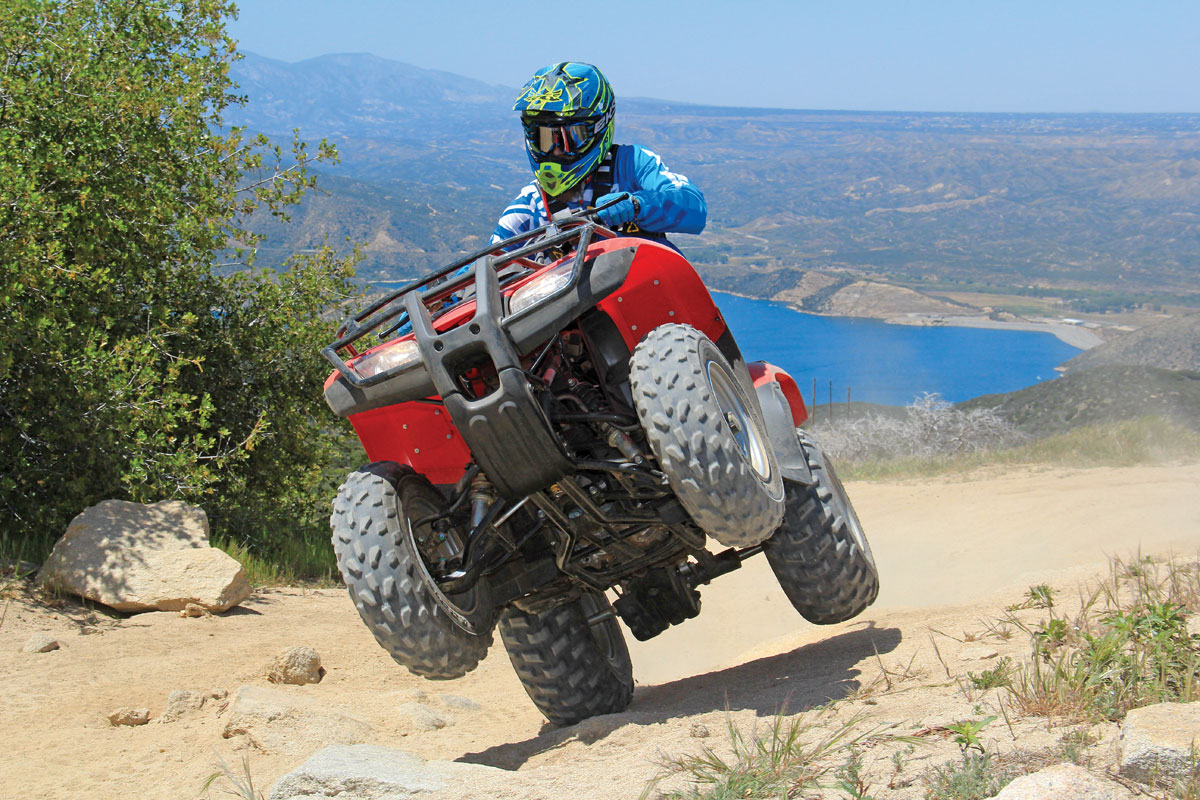 Like The Kawasaki, The Recon Pops The Front End Up Easily With Some Help,