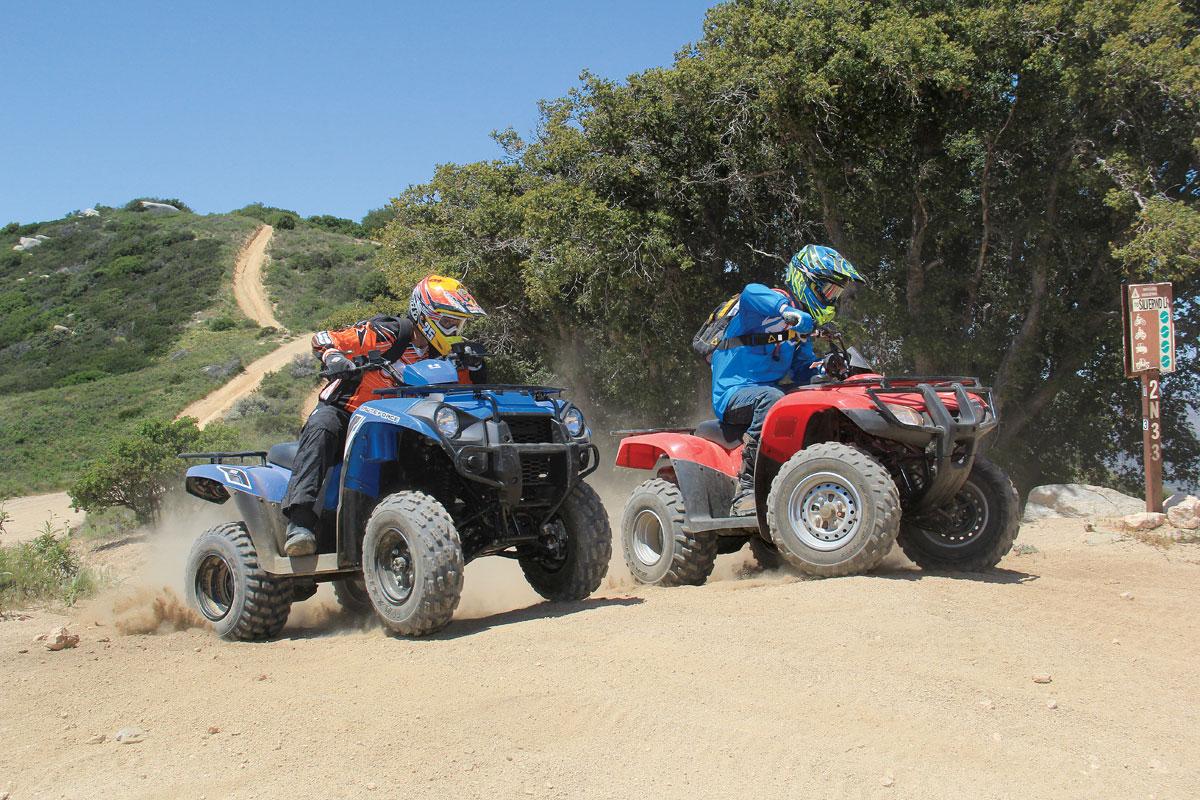 Honda Recon 250 vs  Kawasaki Brute Force 300 | Dirt Wheels