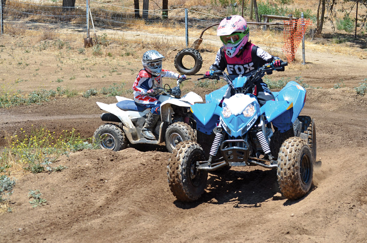 Polaris Outlaw 90 Vs Suzuki Quadsport Z90 Dirt Wheels