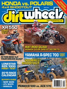 ON THECOVER:  Travis Work pitches the new Arctic Cat XR 550 sideways for our first test. Then we take a look at the upcoming MX/ GNCC racing season. Below, we put the two oddball UTVs into a wheel-to-wheel shootout.