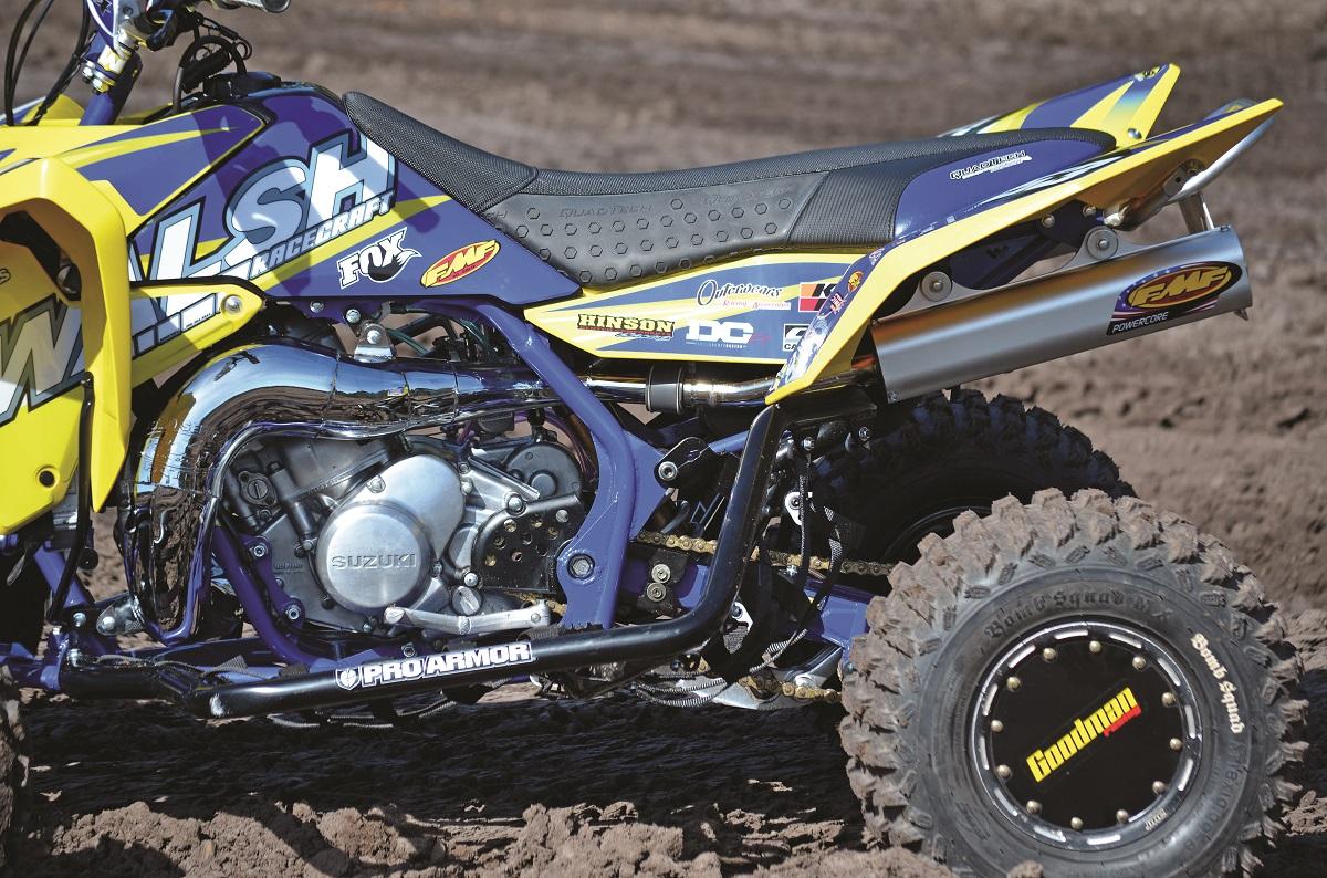 SHOOTOUT: Walsh Hybrid Suzuki LT500 vs. Honda CRF450R | Dirt Wheels Magazine