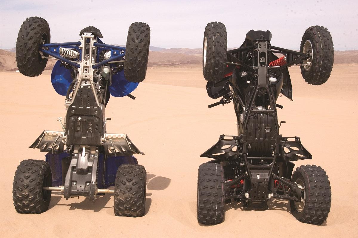 SHOOTOUT: 2008 Raptor 700 vs  Honda 700X   Dirt Wheels Magazine