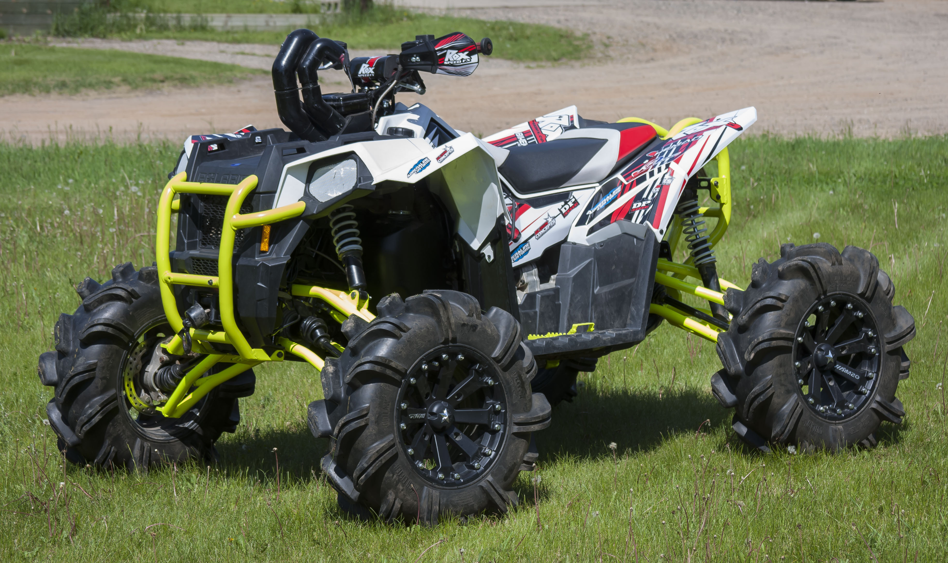rox speed fx polaris scrambler 850 1000 bumpers dirt wheels magazine. Black Bedroom Furniture Sets. Home Design Ideas