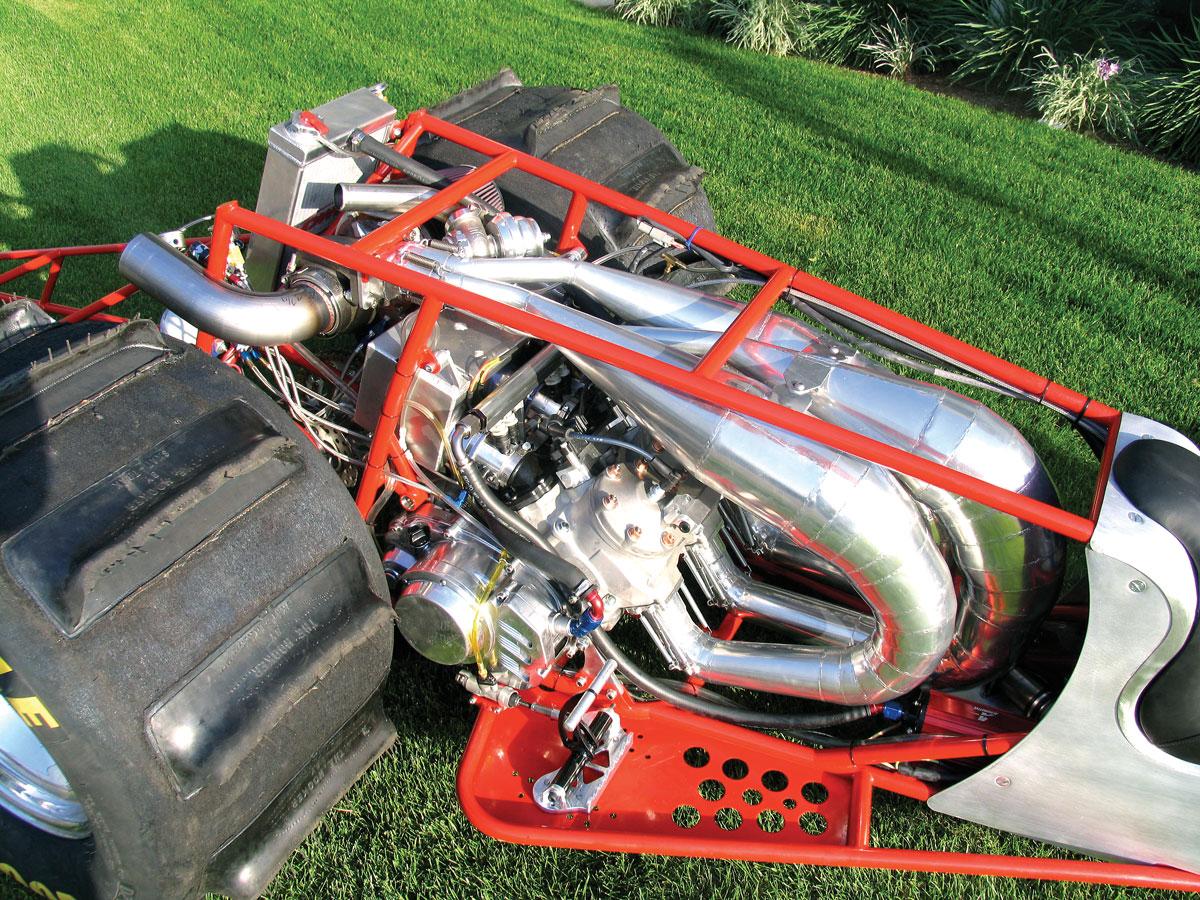 3-CYLINDER TURBO 2-STROKE DRAG QUAD | Dirt Wheels Magazine