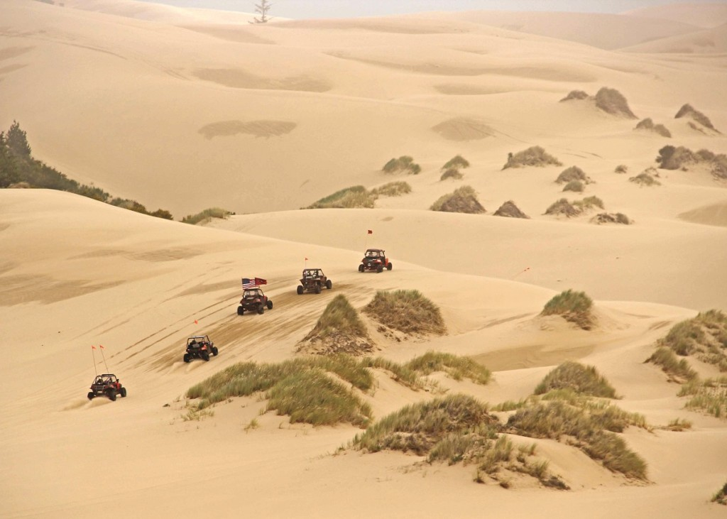 Guided dune rides were a big hit at the Oregon UTV Invasion. Groups of riders went out exploring throughout the event