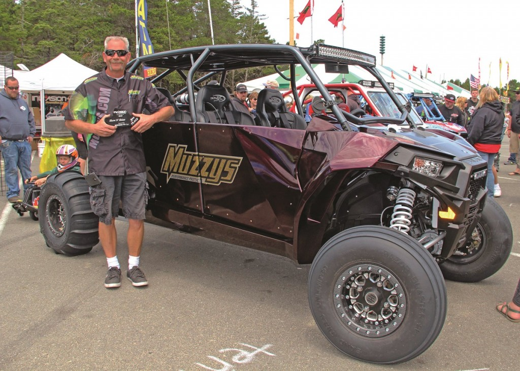 There was a show & shine competition for the coolest machines at the event. This rad UTV by Muzzys took third place.