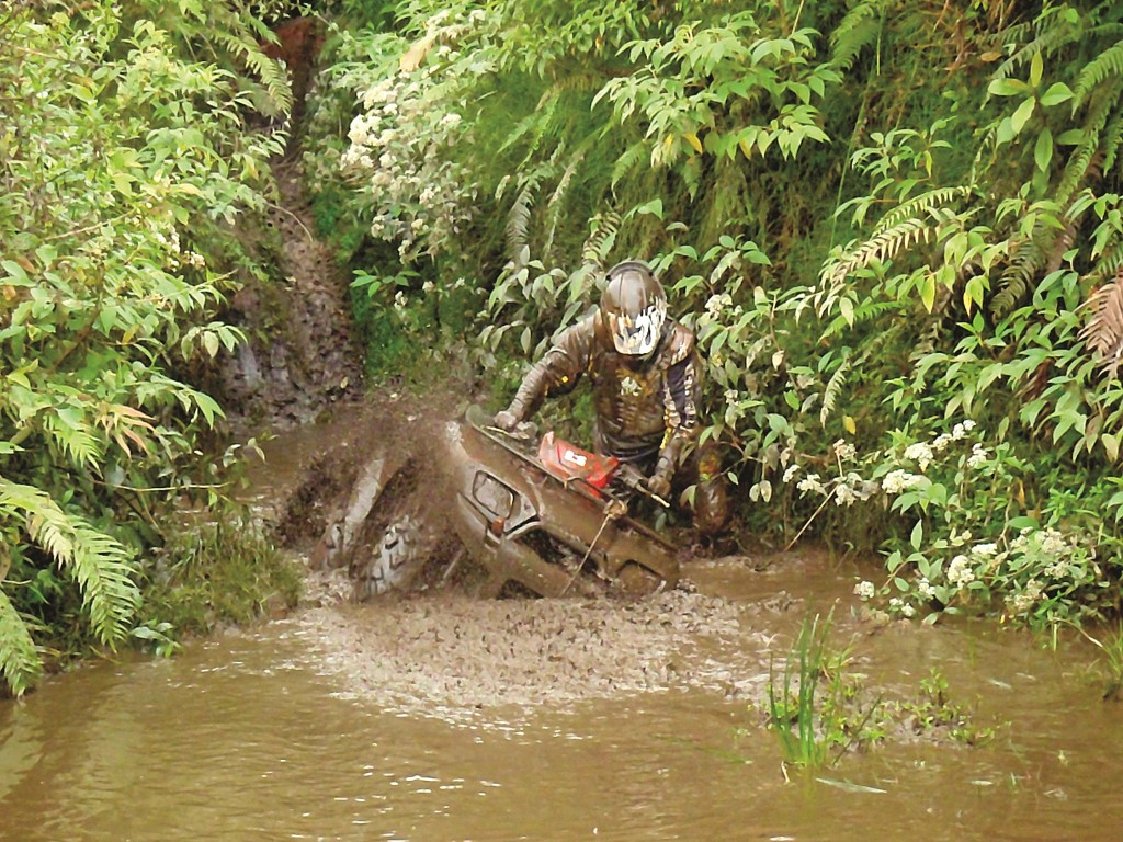 The best water parks begin with a quad sliding down a slick, muddy hill and splashing into a lagoon.