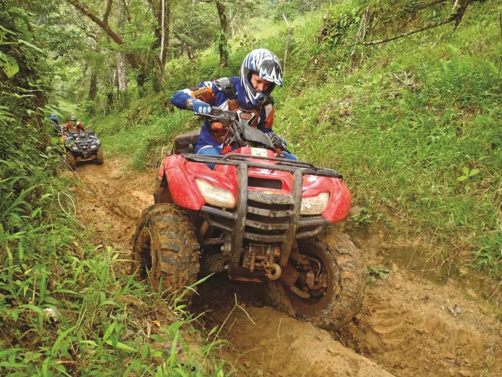 There are no easy novice trails out here.