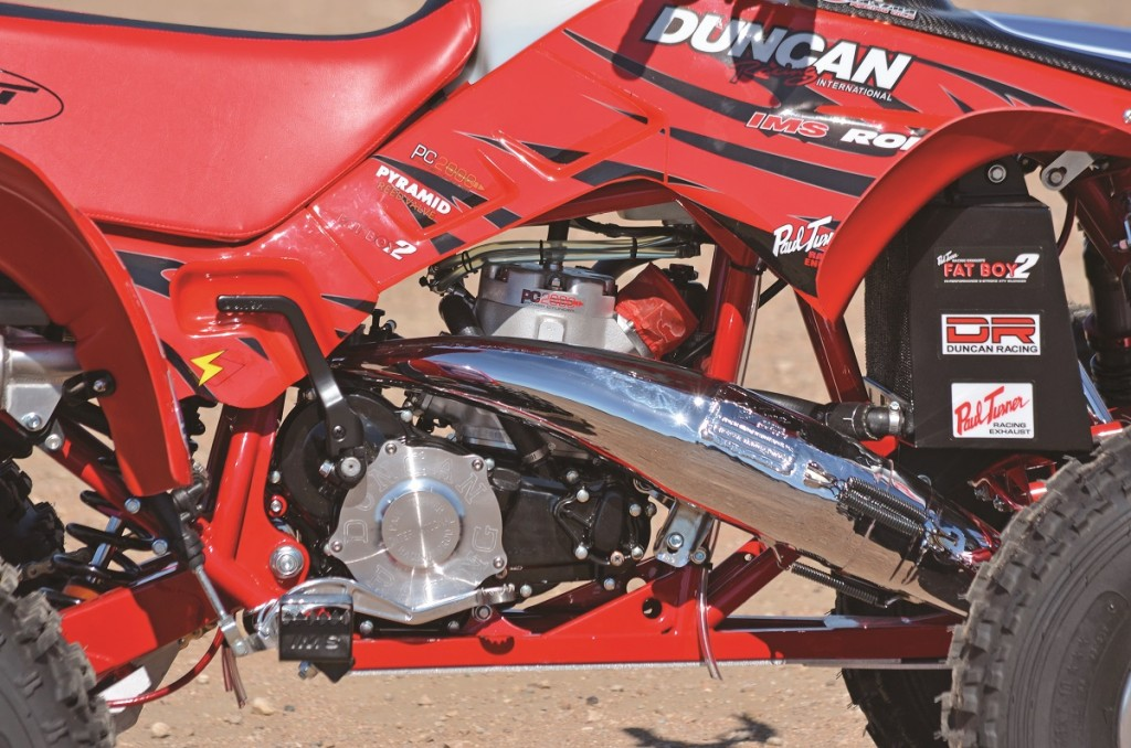 Duncan Racing has been building Honda 250R motors since the beginning. For this project the Duncan team decided a 305cc big-bore setup with a power valve would match perfectly. The 305 is ultra reliable.
