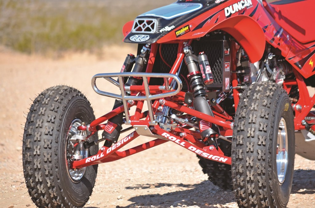 In recent years Roll and Elka have teamed up for some projects in the suspension arena. The pairing on this desert machine provides a plush ride that is unlike anything you have ever ridden.