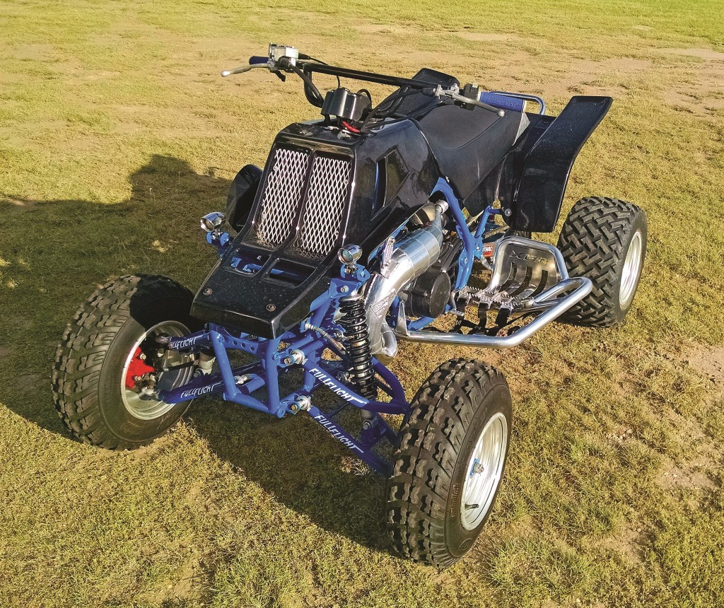 Corey McBroom has his 2004 Banshee set up as an allaround fun machine for the trails of Oklahoma. It has DynoPort pipes, 35mm carbs, Noss Cool Heads, Full Flight A-arms, 6-inch swingarm and more.
