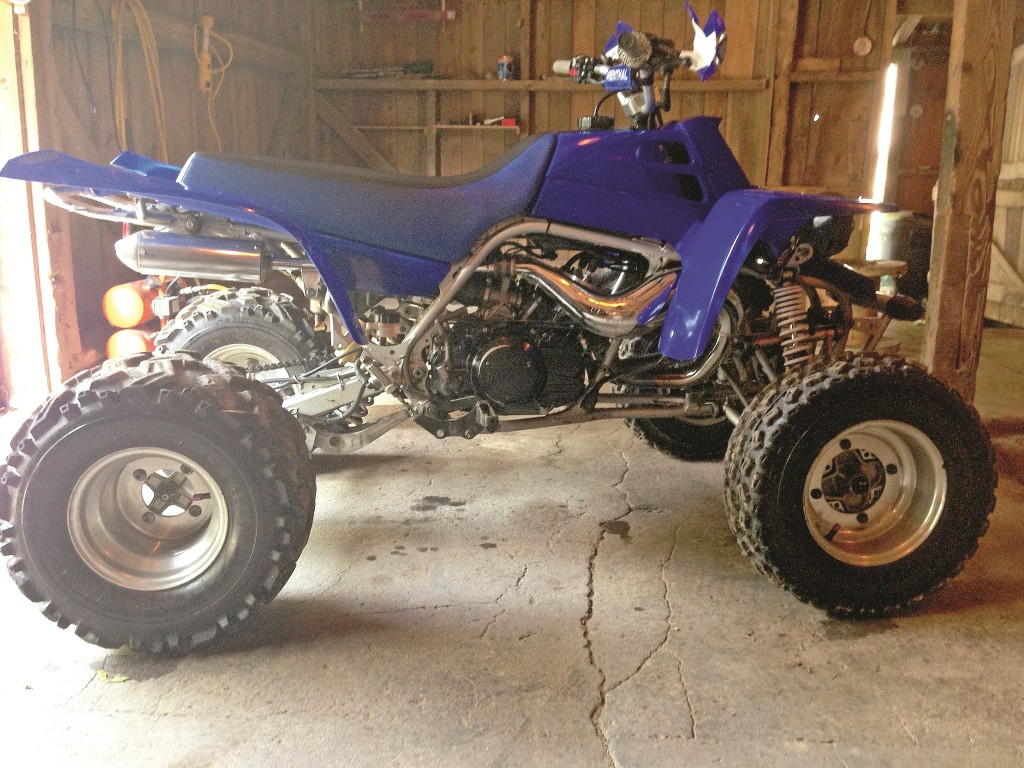 Ryan Hale's 2001 Banshee has FMF pipes, Pro Design Cool Heads with 22cc domes and intake, Keihin 34 mm PJ carbs, Namura pistons and Hot Rods crank. His screaming twostroke twin is regularly seen roosting around the hills of Pennsylvania.
