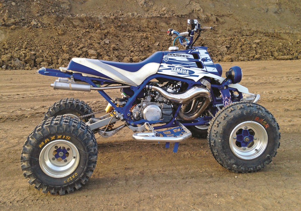 There are many hard-core quad riders living in Alberta, Canada, and Tyler Benn is one of them. He happens to be a two-stroke fanatic and keeps his 1999 Banshee running and looking like new. Like many of us he'd love to be able to buy a new one.