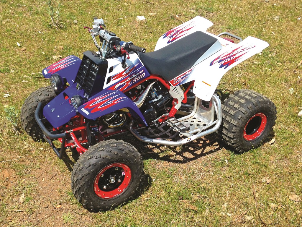 Here is Lincoln Brien's 2011 Banshee. What? How can that be when 2006 was the last year Banshees were sold new? Well, Lincoln lives in Australia where they remained available longer. He has his Banshee outfitted with aftermarket A-arms, shocks, pipes, nerfs and more.