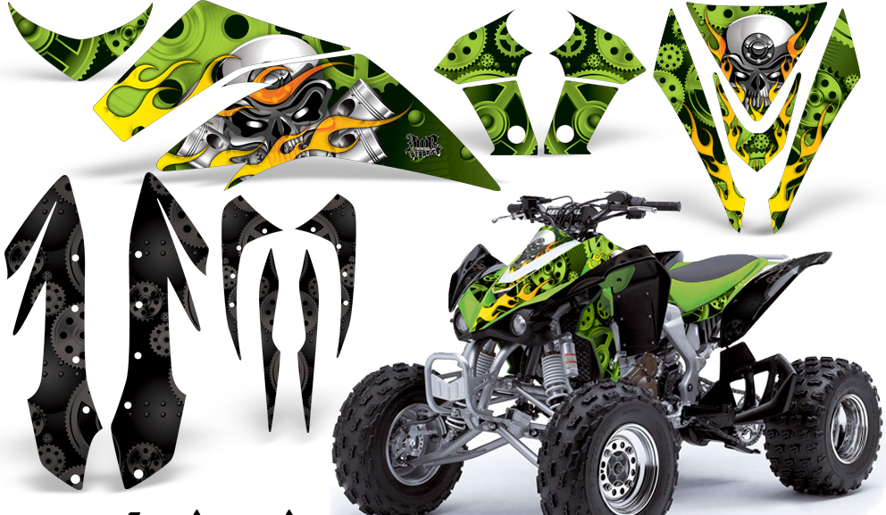 Graphics companies such as AMR Racing offer a full line of graphics for most popular-brand ATVs. They offer off-the-shelf kits, along with custom kits that you can design and add your sponsors to.