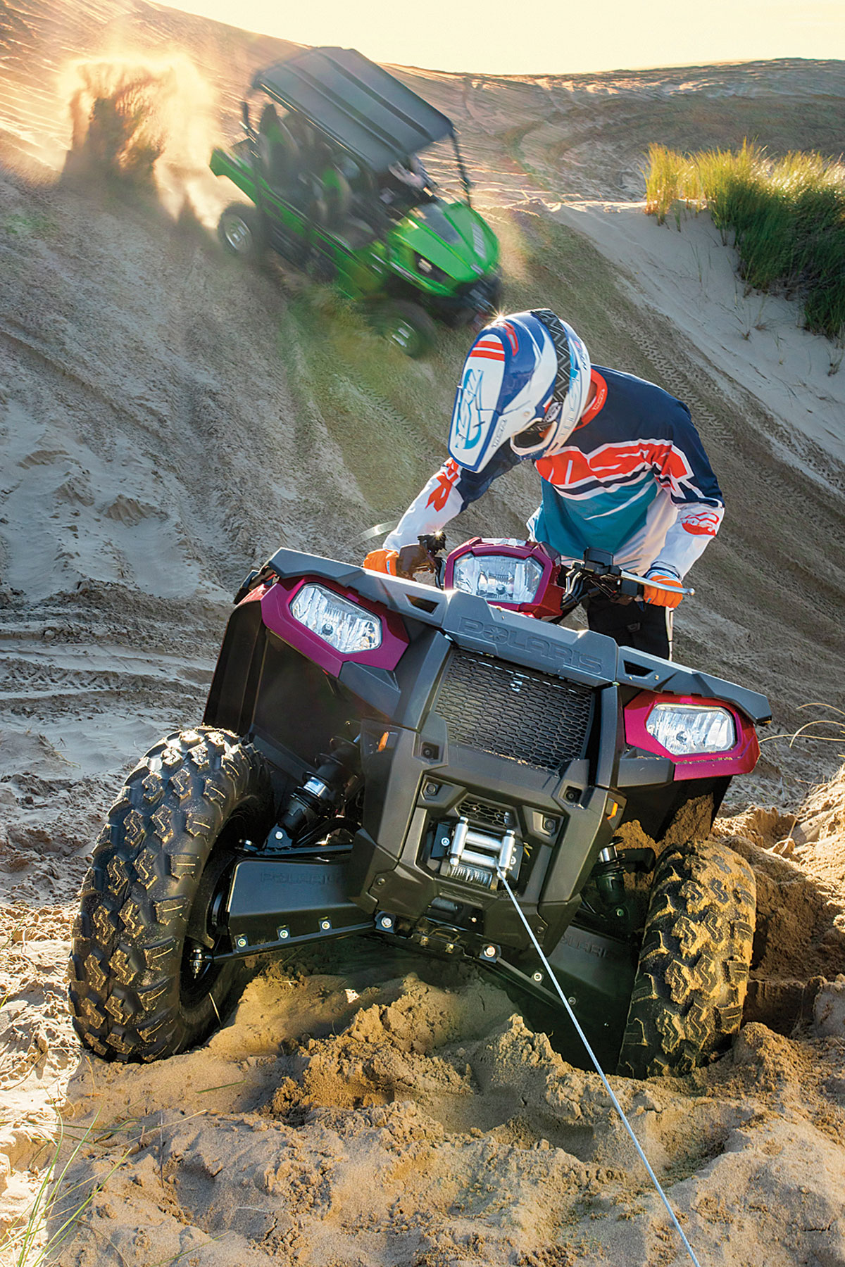 Atv Utv Winch Buyers Guide Dirt Wheels Magazine Badland Winches 2000 Lb Wiring Diagram When Exploring The Back Country You May Encounter Gnarly Obstacles Or Deep Mud To Traverse Through Getting These Can Be A Not So Simple