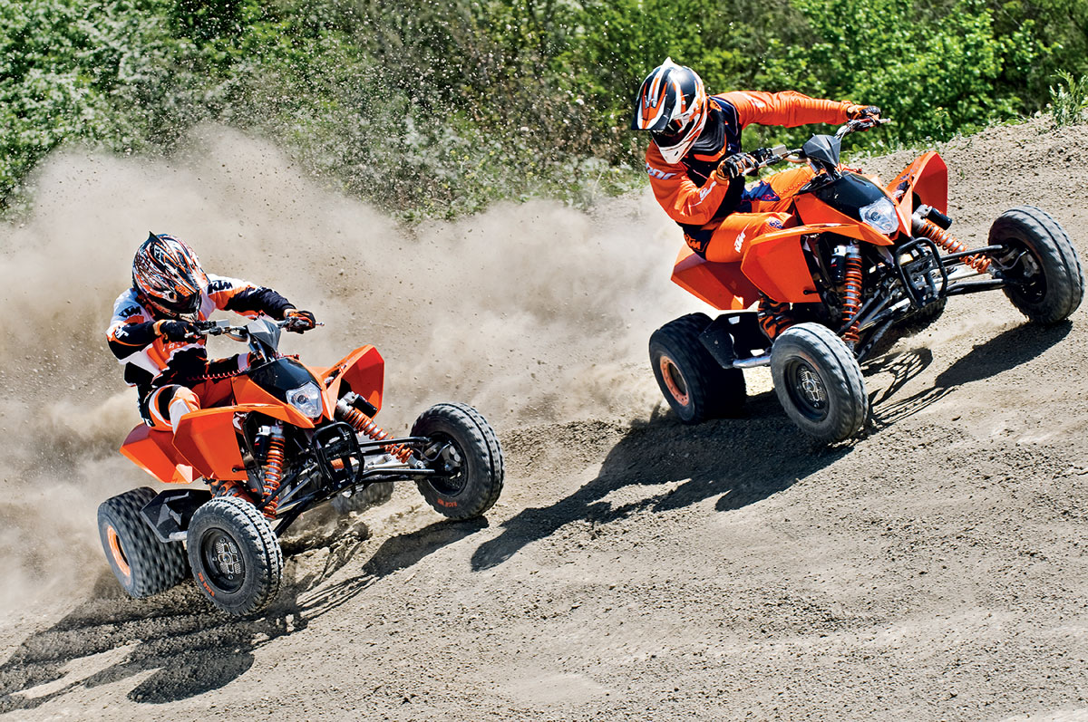 dirt wheels magazine | atv test: 2009 ktm 505sx & 450sx – blast
