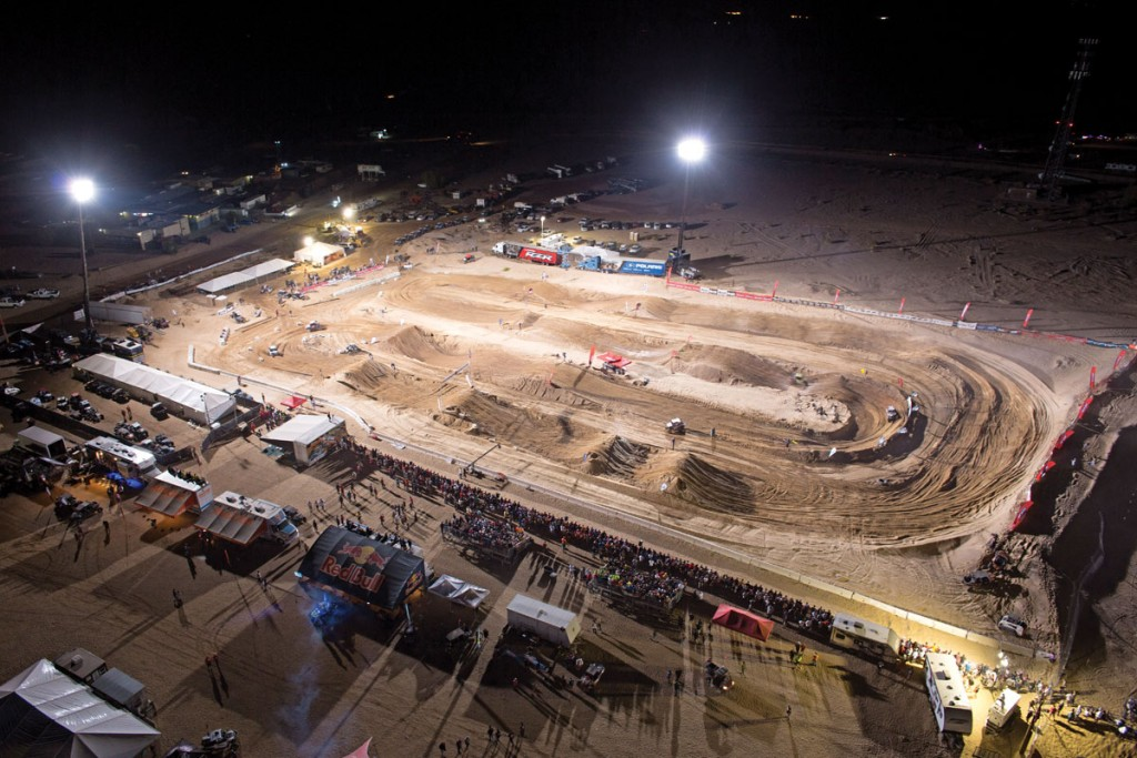 The track for the spec-class Polaris RZR XP 1000 racing machines was sandy and very rutted out, but the racers and fans enjoyed the action.