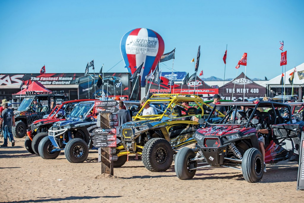At Camp RZR West there were hundreds of Polaris RZRs that showed up fully modified with aftermarket parts that you could find at vendor row.