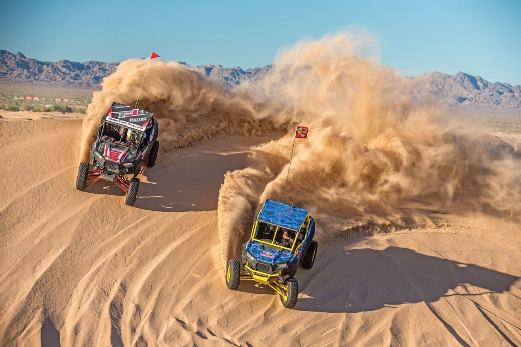 Racers and Polaris RZR fans like RJ Anderson and Bryce Menzies took their machines out for some dune-shredding fun.