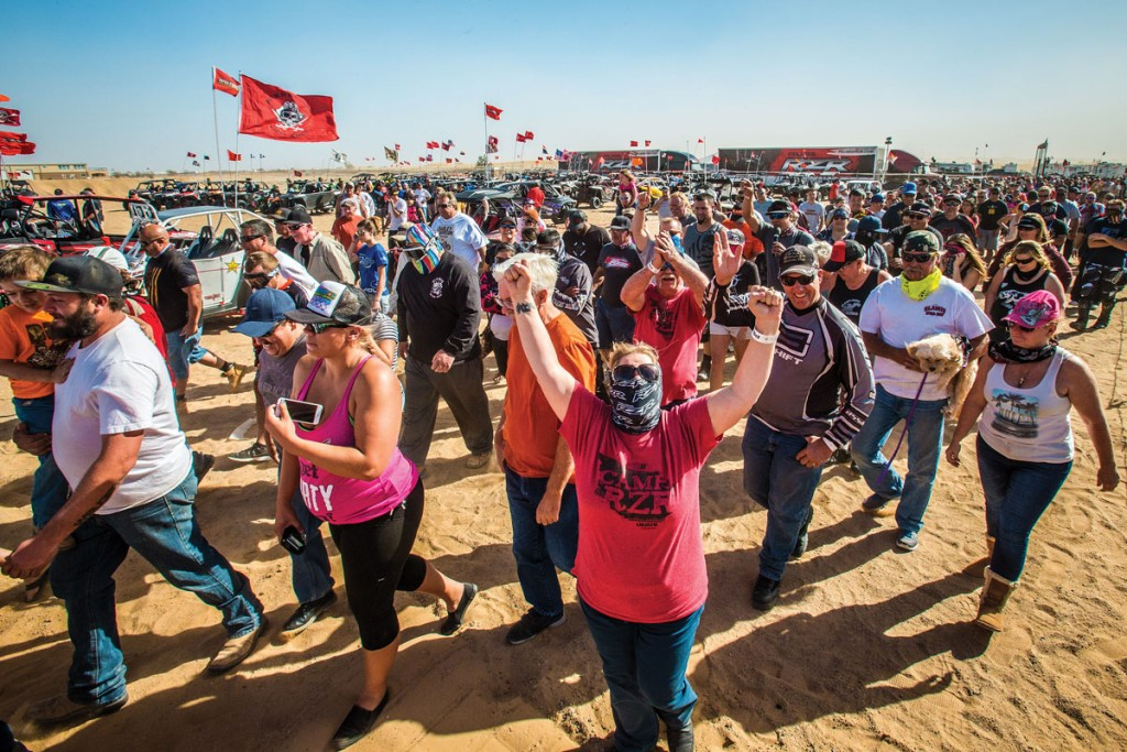 Thousands of people show up to Glamis over Halloween weekend. It has been a tradition for riders for many years, so Camp RZR took advantage of that and helped grow participant turnout.