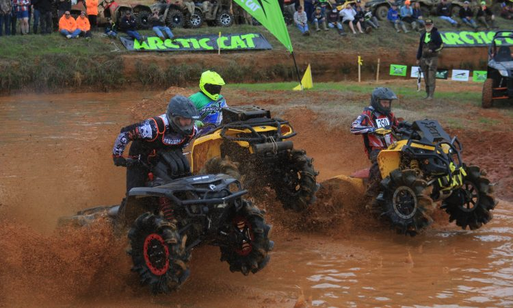 The mud racing action was impressive to watch during the Arctic Cat Mudda Cross event.