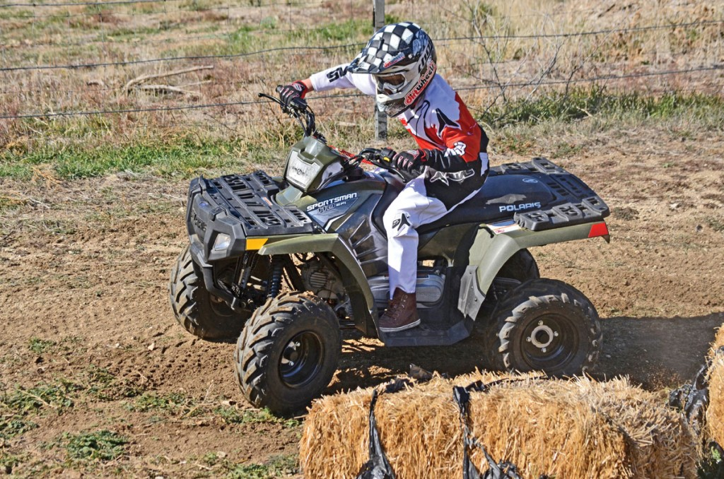 Polaris puts a rider's age recommendation of 10 years and older on their new minis. This a small 12-year-old who fits perfectly.