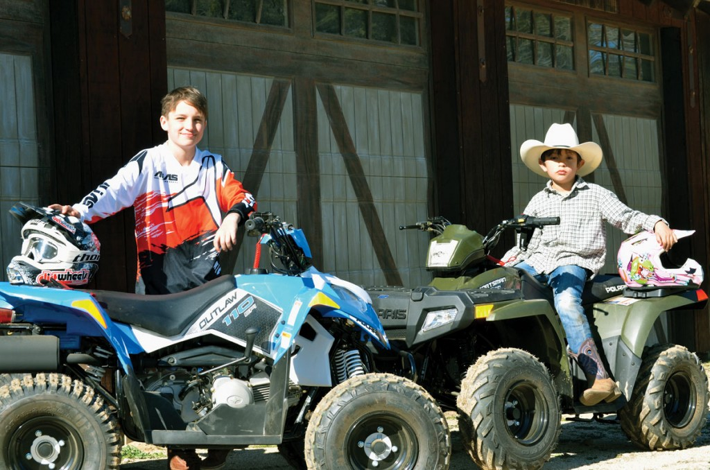 Most little boys want to grow up to be like their dads. With these quads, they can choose to ride one that might look like their dads' too.