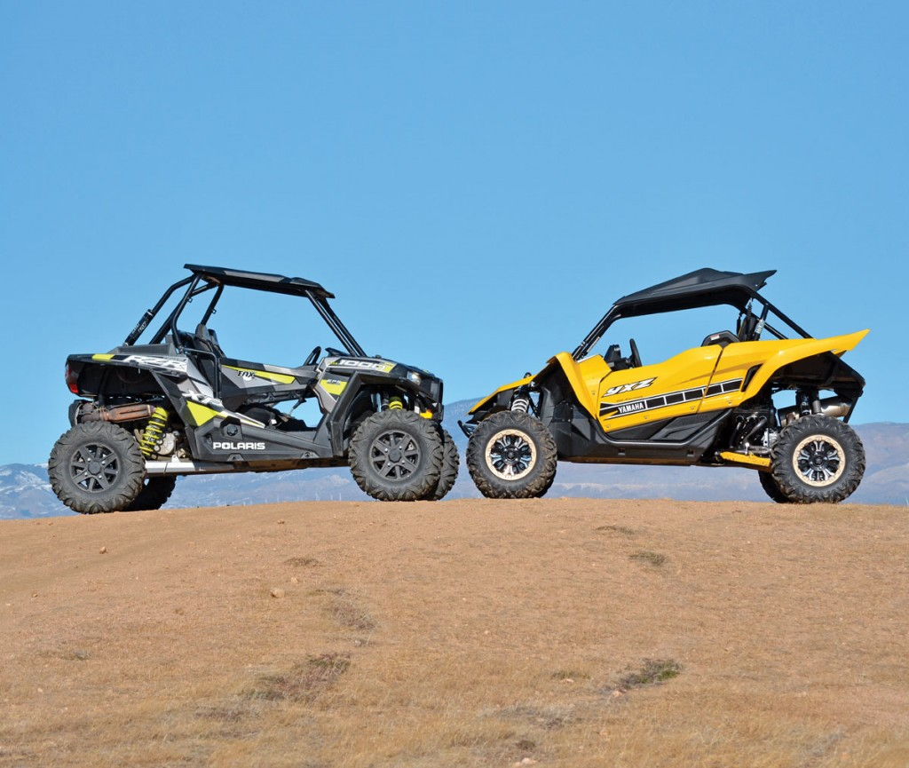 shootout polaris rzr xp 1000 vs yamaha yxz1000r dirt
