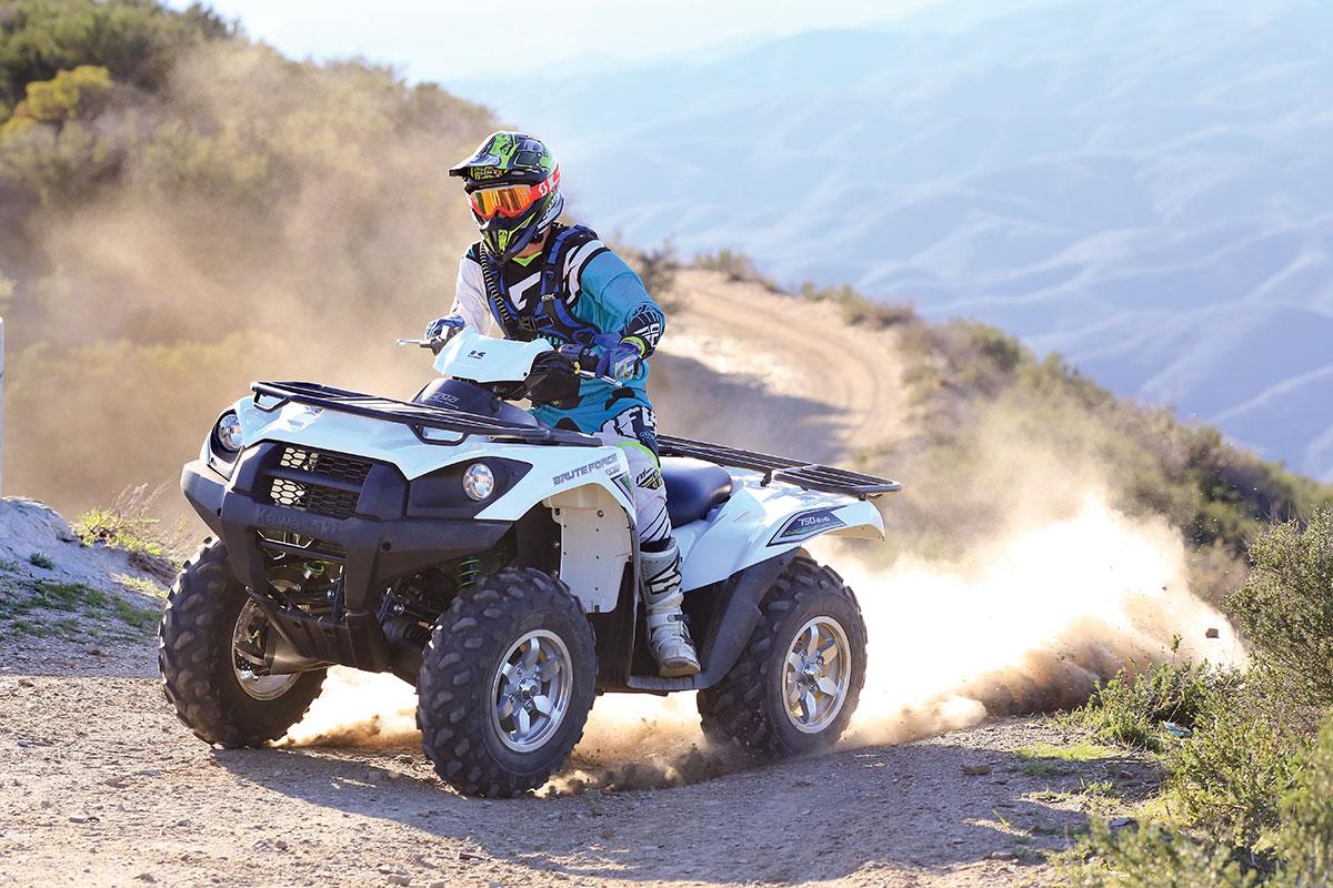 dirt wheels magazine | atv test: kawasaki brute force 750 4x4i eps