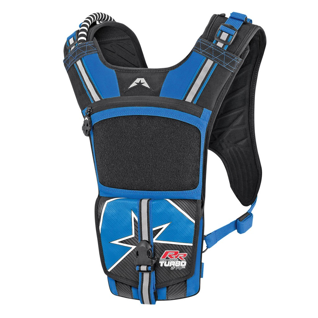 On the back of the Turbo RR hydration pack you can purchase Velcro race numbers, so when you are racing or simply riding people will know who you are.