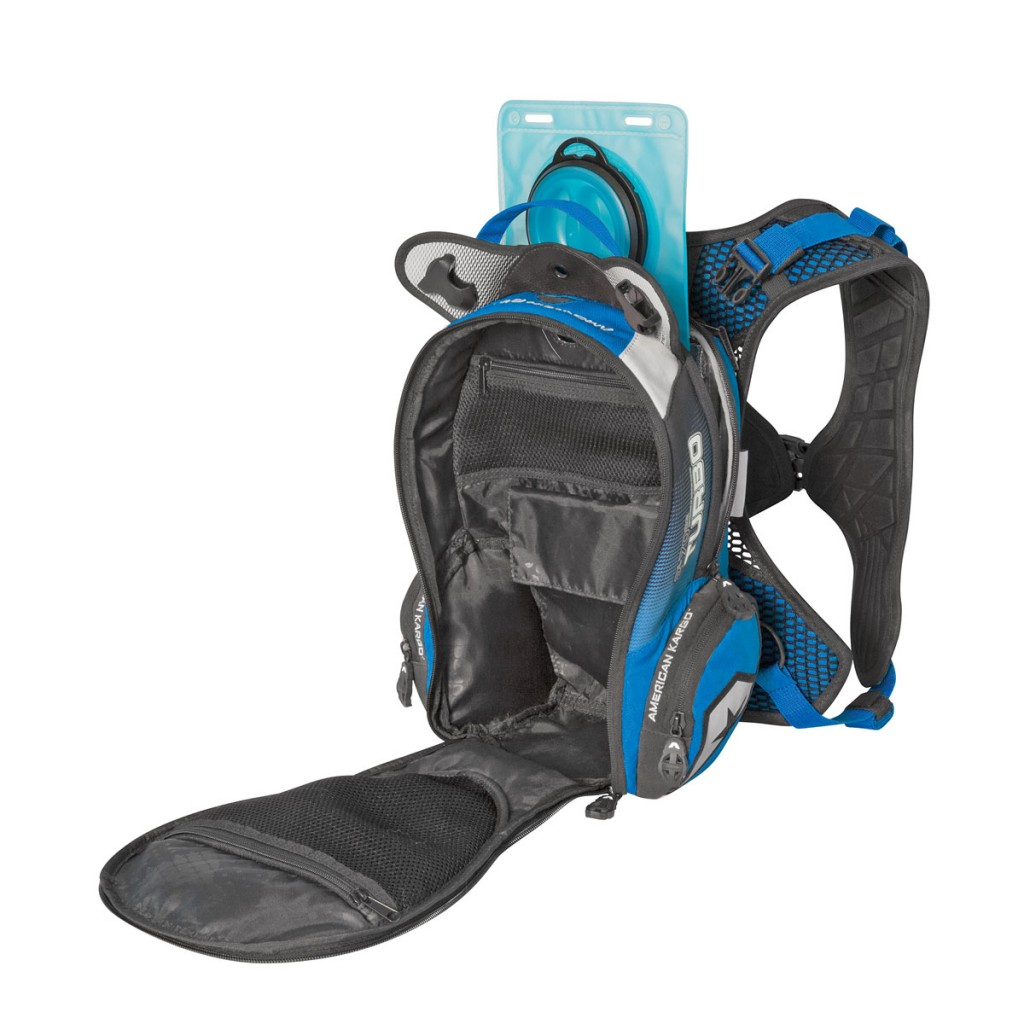 The Turbo 2.0L has one large interior storage pocket, as well as multiple smaller pockets on the inside and outside of the pack.