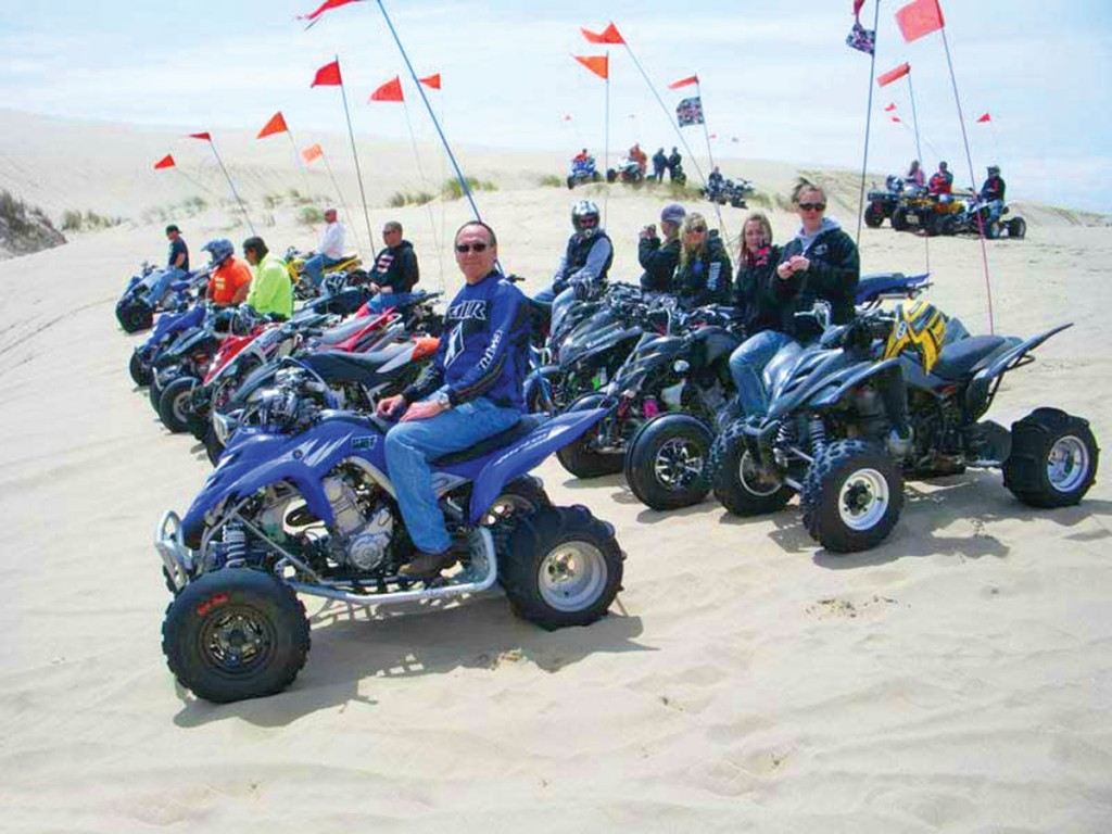 Raptor Rally is put on at Winchester Bay, Oregon, for all Raptor ATV owners to get together for trail rides, drag races and a show & shine contest.