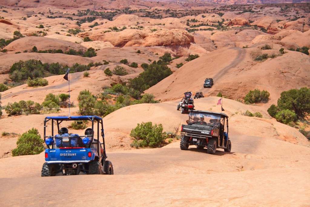 Rally on the Rocks features guided rides exploring the beautiful scenery of Moab, Utah. After each ride there is a catered dinner and ice-cream social followed by bonfires and a raffle.
