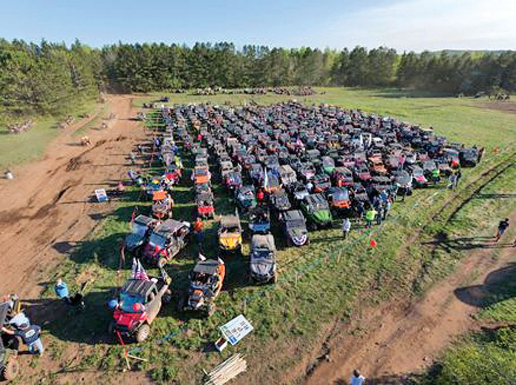 The Memorial Day weekend in Hurley, Wisconsin, has hundreds of riders gathering for an ATV parade Friday evening and a poker run on Saturday. Over 200 miles of trails are available for exploration.