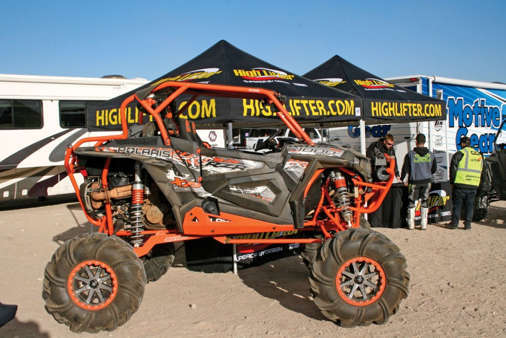 Vendor row is large at King of the Hammers. High Lifter made a showing this year, along with a lot of other aftermarket part manufacturers.