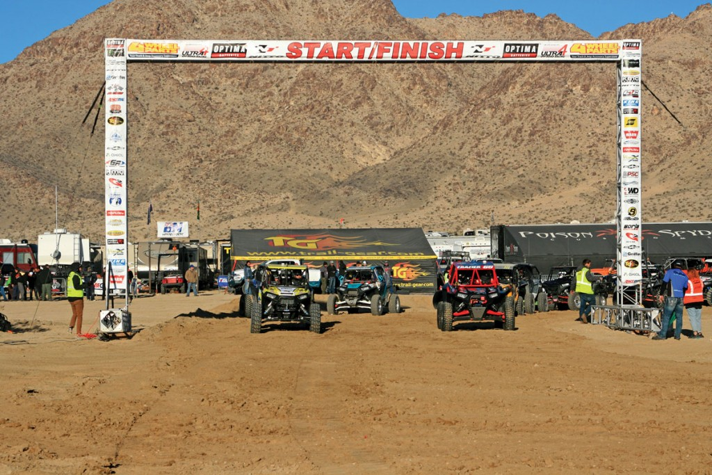 There were a total of 60 UTVs entered into the race this year, and close to half of them finished the race. Depending on what number you pulled is when you would start.