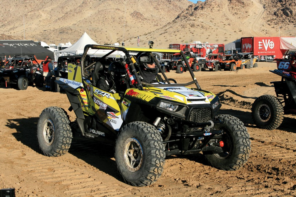 Mitch Guthrie won the 2015 King of the Hammers and was set to win this one by starting on the first row of machines. He suffered a broken part, which settled him into a fifth-place finish this year.