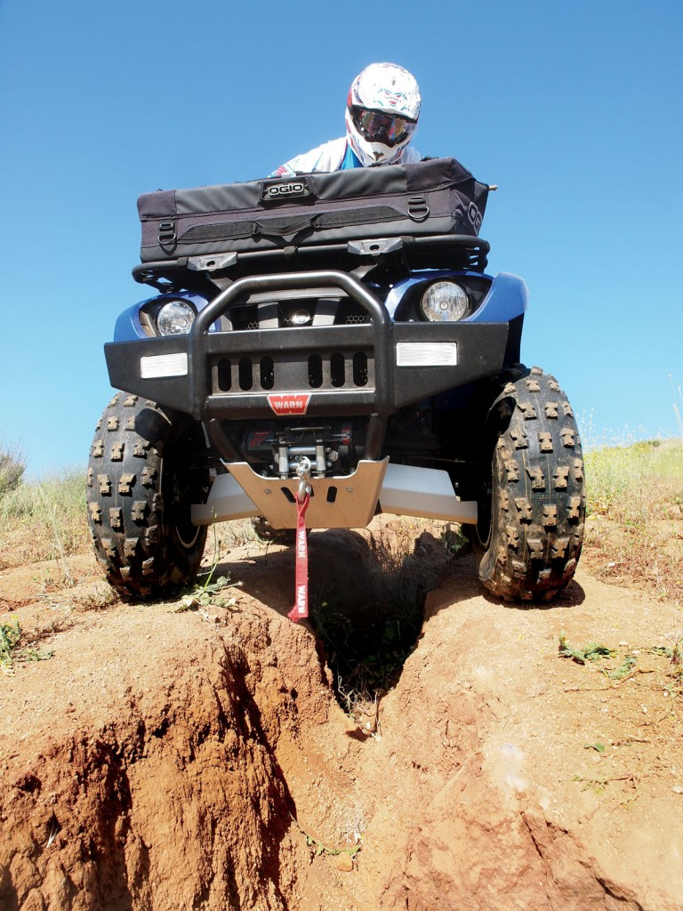 Be aware of your wheels! When you're in tough terrain, keep your wheels as straight as possible. When you have to straddle look way ahead and take it slow.