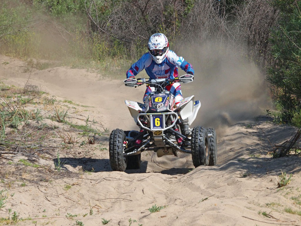 When in doubt, stand up! If there's anything you need to know about whoops, it's that you have to be able to move quickly. If you are planted in the middle of the seat, you can't react to the rapid altitude changes of the ATV.