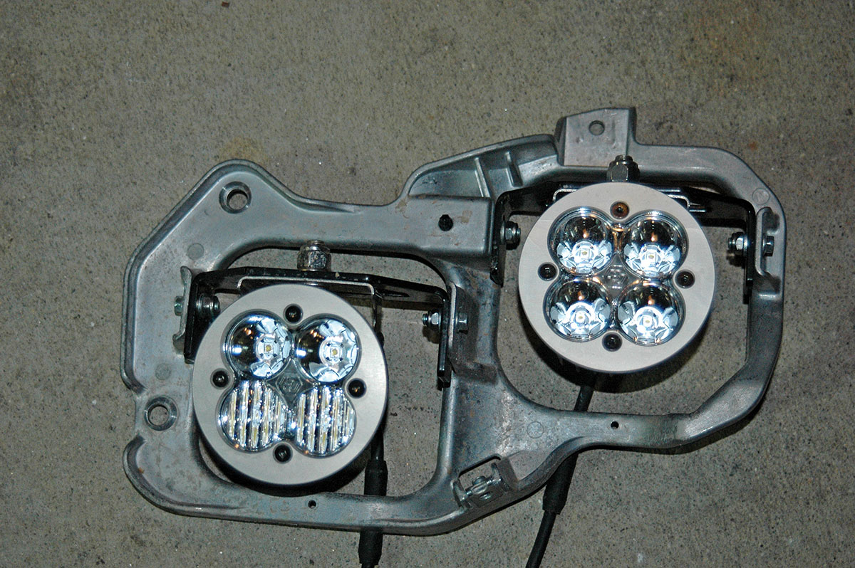 The Squadron lights come with Yamaha YXZ1000R brackets that are specific to the machine for mounting into the stock headlight locations.