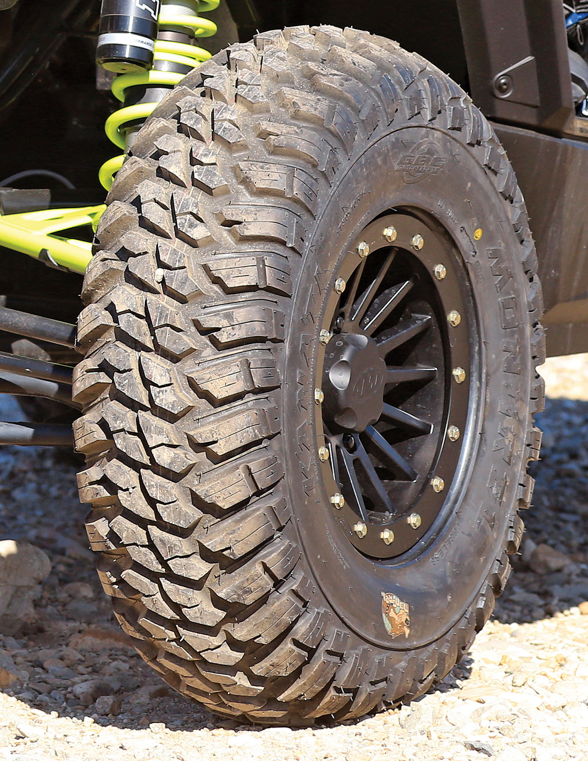 When we first saw the GBC Kanati Mongrel tires in action, we wondered if they were an automotive tire adapted to UTV use. Nope, they are designed for ATVs and UTVs.